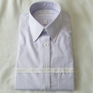 Purple Fitted Dress Shirt